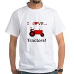 I Love Red Tractors White T-Shirt