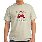 I Love Red Tractors Light T-Shirt