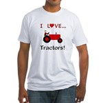 I Love Red Tractors Fitted T-Shirt
