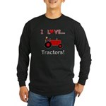 I Love Red Tractors Long Sleeve Dark T-Shirt