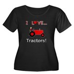 I Love Red Tractors Women's Plus Size Scoop Neck D