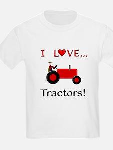I Love Red Tractors T-Shirt