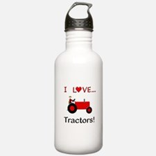 I Love Red Tractors Water Bottle