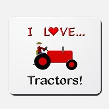I Love Red Tractors Mousepad