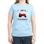 I Love Red Tractors Women's Light T-Shirt