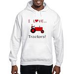 I Love Red Tractors Hooded Sweatshirt