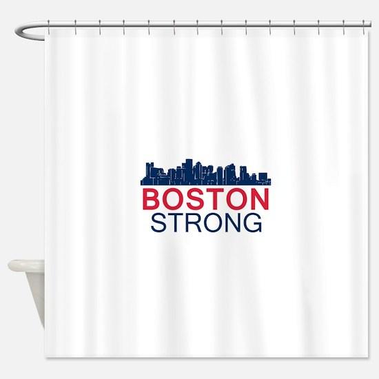 Boston Strong - Skyline Shower Curtain