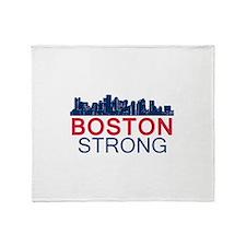 Boston Strong - Skyline Throw Blanket