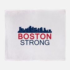 Boston Strong - Skyline Throw Blanket