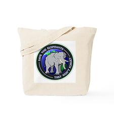 Funny Save the elephants Tote Bag