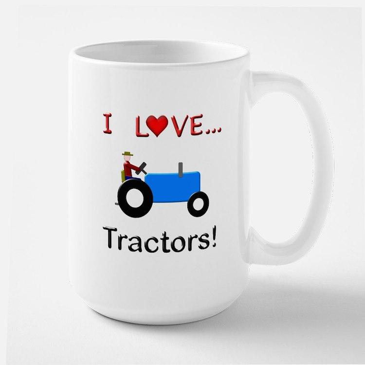 I Love Blue Tractors Mug