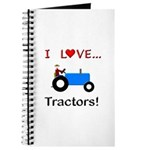 I Love Blue Tractors Journal