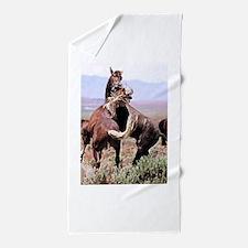 Wild Horses Beach Towel