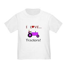 I Love Purple Tractors T