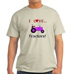 I Love Purple Tractors Light T-Shirt