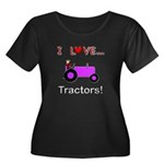 I Love Purple Tractors Women's Plus Size Scoop Nec