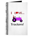 I Love Purple Tractors Journal