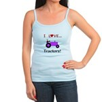 I Love Purple Tractors Jr. Spaghetti Tank