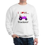 I Love Purple Tractors Sweatshirt