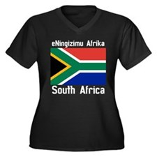 South African Dark (F+B) Plus Size T-Shirt