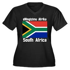 eNingizimu Afrika Dark Plus Size T-Shirt