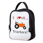 I Love Orange Tractors Neoprene Lunch Bag