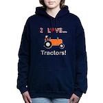 I Love Orange Tractors Hooded Sweatshirt