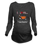I Love Orange Tractors Long Sleeve Maternity T-Shi