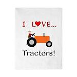 I Love Orange Tractors Twin Duvet