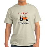 I Love Orange Tractors Light T-Shirt