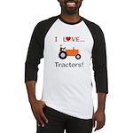 I Love Orange Tractors Baseball Jersey