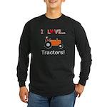 I Love Orange Tractors Long Sleeve Dark T-Shirt