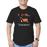 I Love Orange Tractors Men's Fitted T-Shirt (dark)