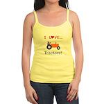 I Love Orange Tractors Jr. Spaghetti Tank