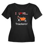 I Love Orange Tractors Women's Plus Size Scoop Nec