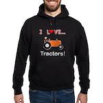 I Love Orange Tractors Hoodie (dark)