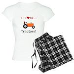I Love Orange Tractors Women's Light Pajamas