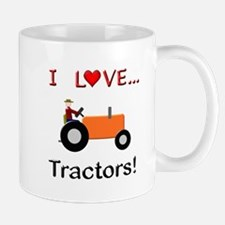 I Love Orange Tractors Mug