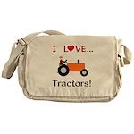 I Love Orange Tractors Messenger Bag
