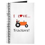 I Love Orange Tractors Journal