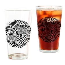 Zebra Couple Drinking Glass