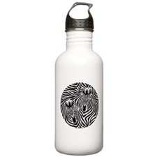 Zebra Couple Water Bottle
