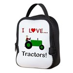 I Love Green Tractors Neoprene Lunch Bag