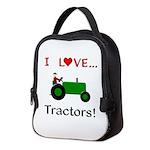 I Love Green Tractors Neoprene Lunch Bag