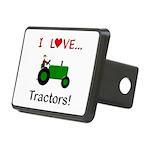 I Love Green Tractors Rectangular Hitch Cover