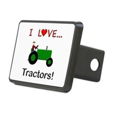 I Love Green Tractors Hitch Cover