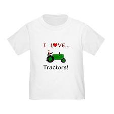 I Love Green Tractors T