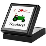 I Love Green Tractors Keepsake Box