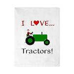 I Love Green Tractors Twin Duvet