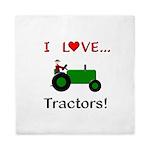 I Love Green Tractors Queen Duvet
